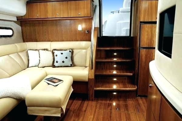 small boat interiors boat interior photo of warm white led ...