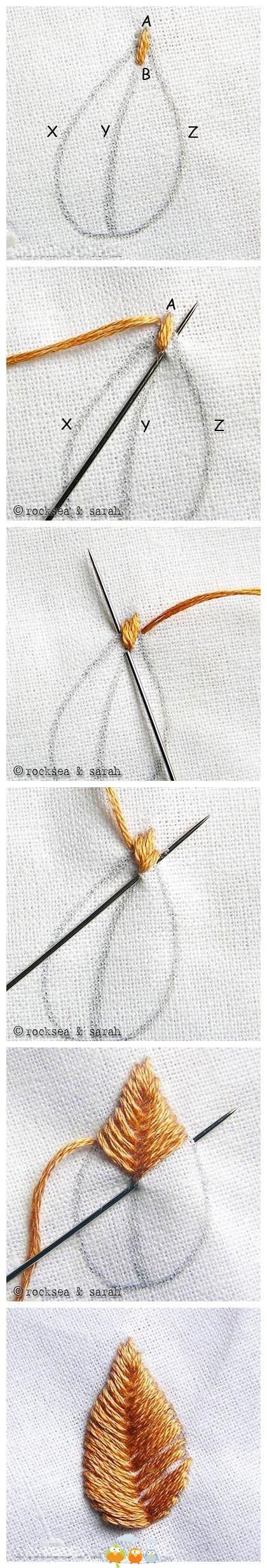 Como hacer un petalo paso a paso | diseño | Pinterest | Bordado ...