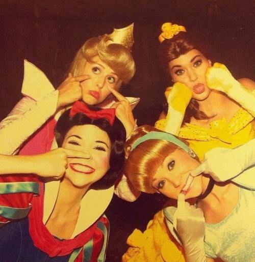 Princesses being goofy