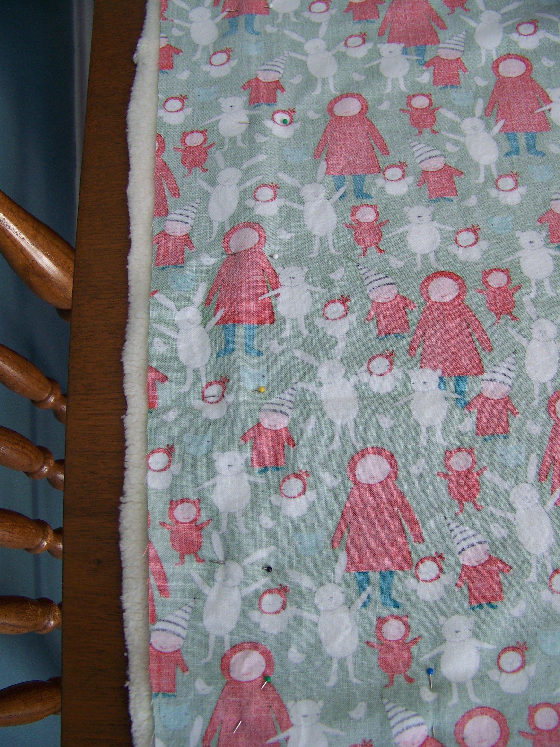 So there are a whole lot of ways to make a baby blanket iuve made a