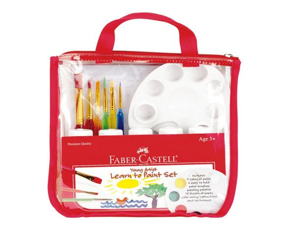 Kids Art Set - Faber Castell Learn to Paint   Kids Painting Kit ...