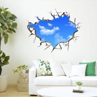 Wonderful Pegatinas Vinilos Decorativos 3d Mural Una Esquina Del Cielo Azul  Desprendibles De La Pared