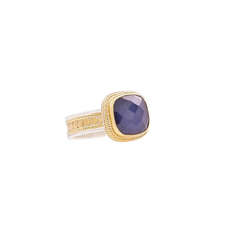 Anna Beck: Rings: Sapphire Square Ring