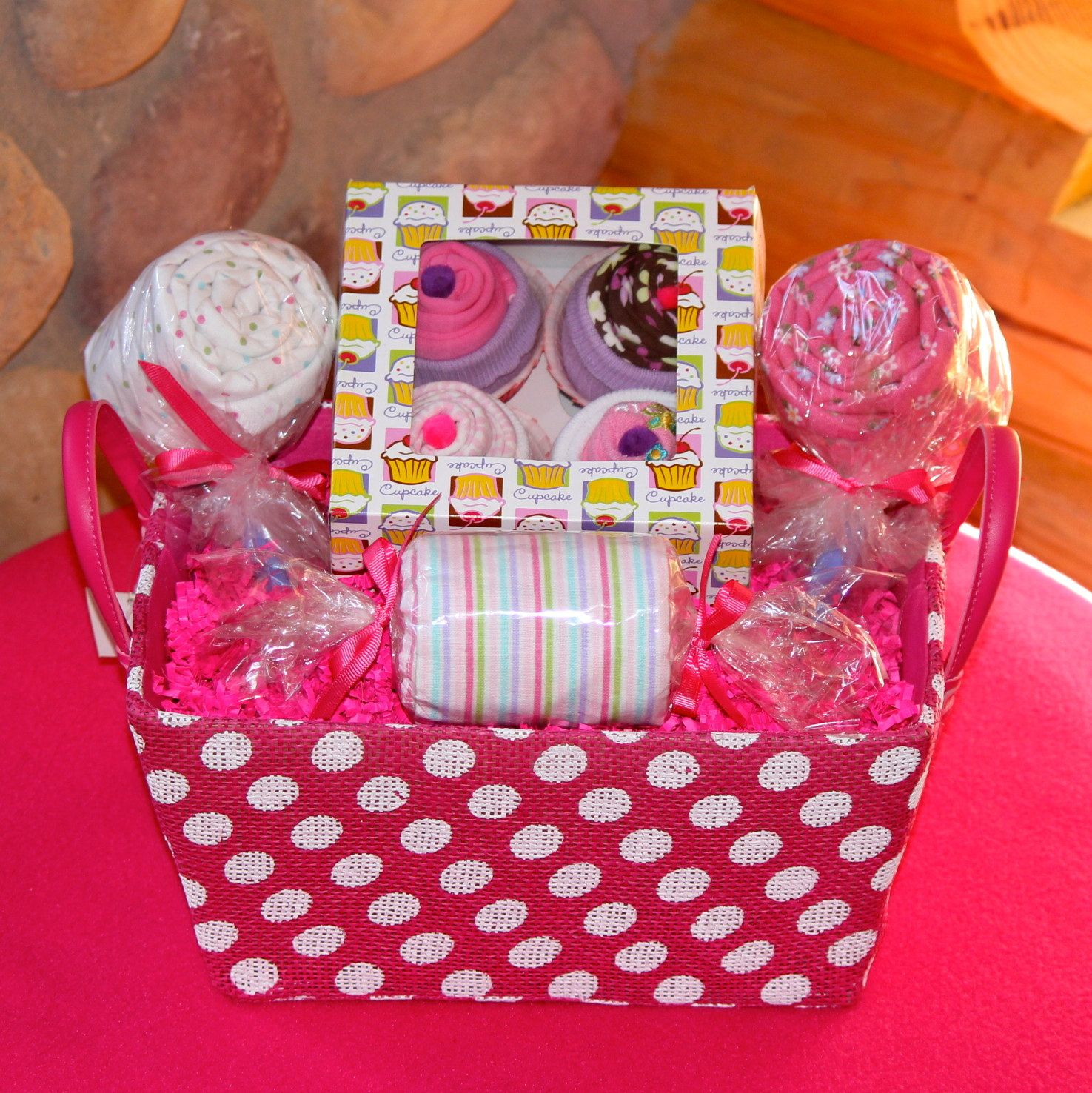 Girl Baby Shower Gift Baskets: Sweet Treats Baby Girl Baby Shower Gift Basket By