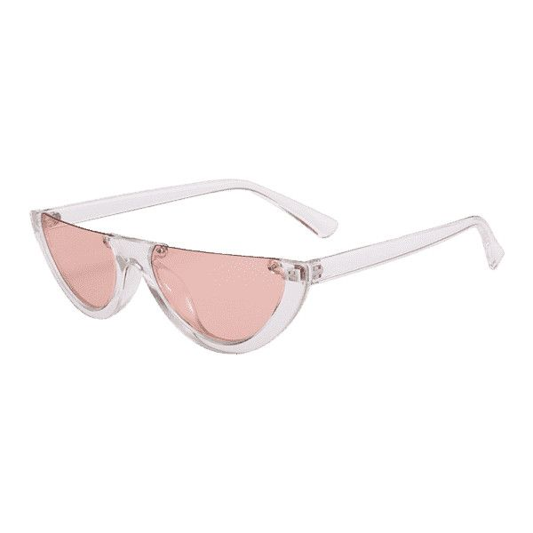 Anti-fatigue Half Frame Cat Eye Sunglasses Light Pink (545
