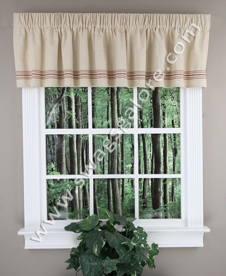 Waverly LAUREL SPRINGS Buckingham VALANCE Window Rod Pocket