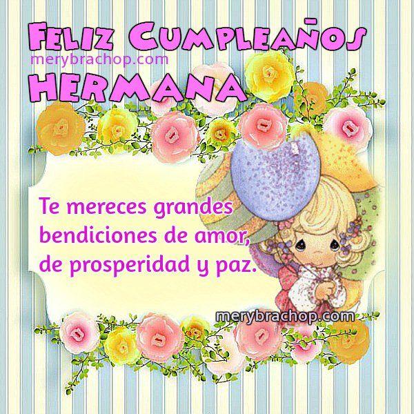 Imágenes+Feliz+Cumpleaños+Hermana Imagenes de Amor Pinterest Happy birthday