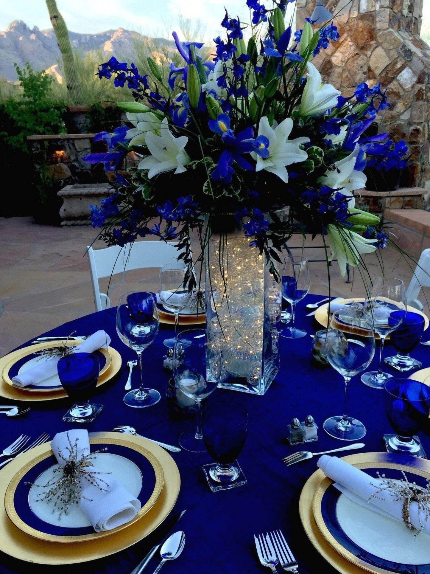 Pretty Weddings Wedding Hochzeit Blue Maritim Tischdekoration Royal In 2020 Blue Wedding Theme Centerpieces Royal Blue Wedding Theme Wedding Theme Centerpieces