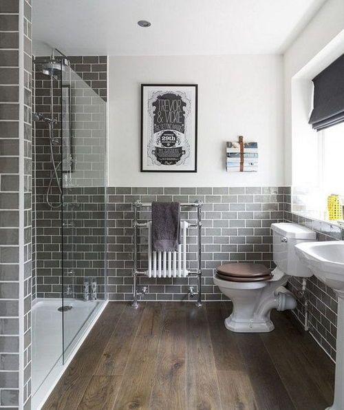 Colores para Baños Rusticos | Azulejos para baños pequeños ...