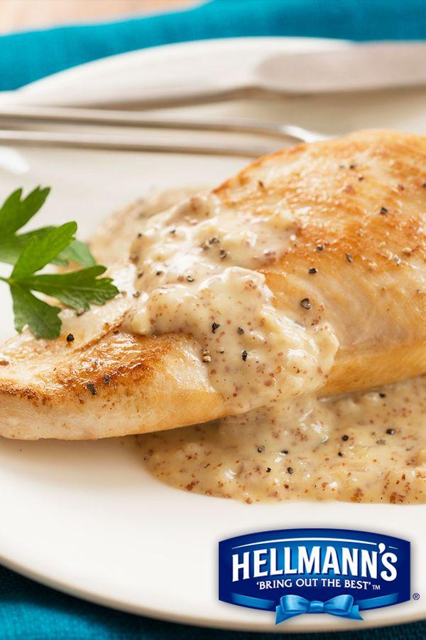 Creamy Honey Mustard Skillet Chicken Recipe Recipe Recipes Hellmans Recipes Mustard Chicken Recipes