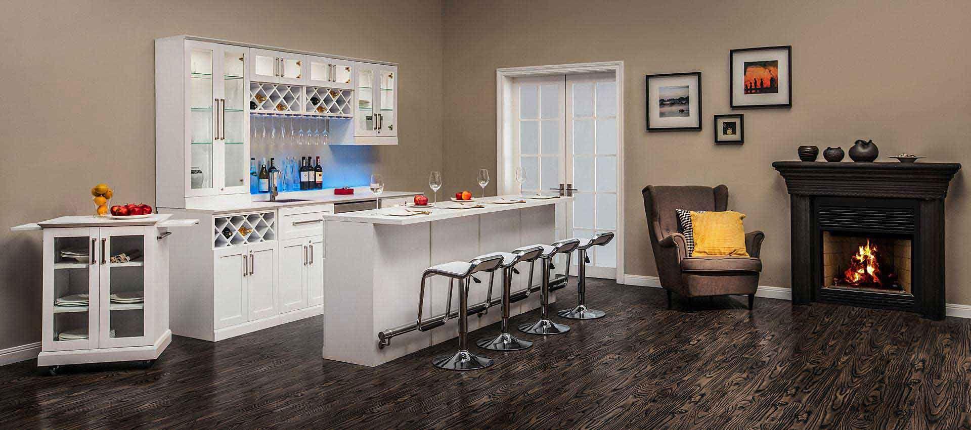 6 piece shaker style home bar 8 health life port home