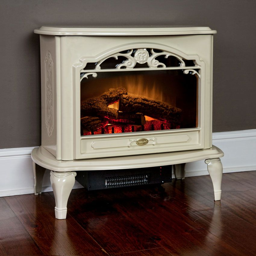 Celeste Freestanding Electric Stove In Cream Tds8515tc Dimplex Fireplace Heater Stove Fireplace Electric Stove