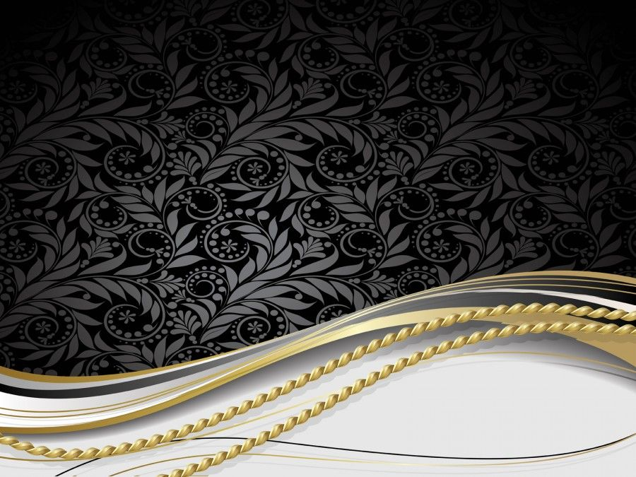 Ppt Backgrounds Each Project Is Custom Designed For Powerpoint Gold And Black Background Black Background Design Gold Background