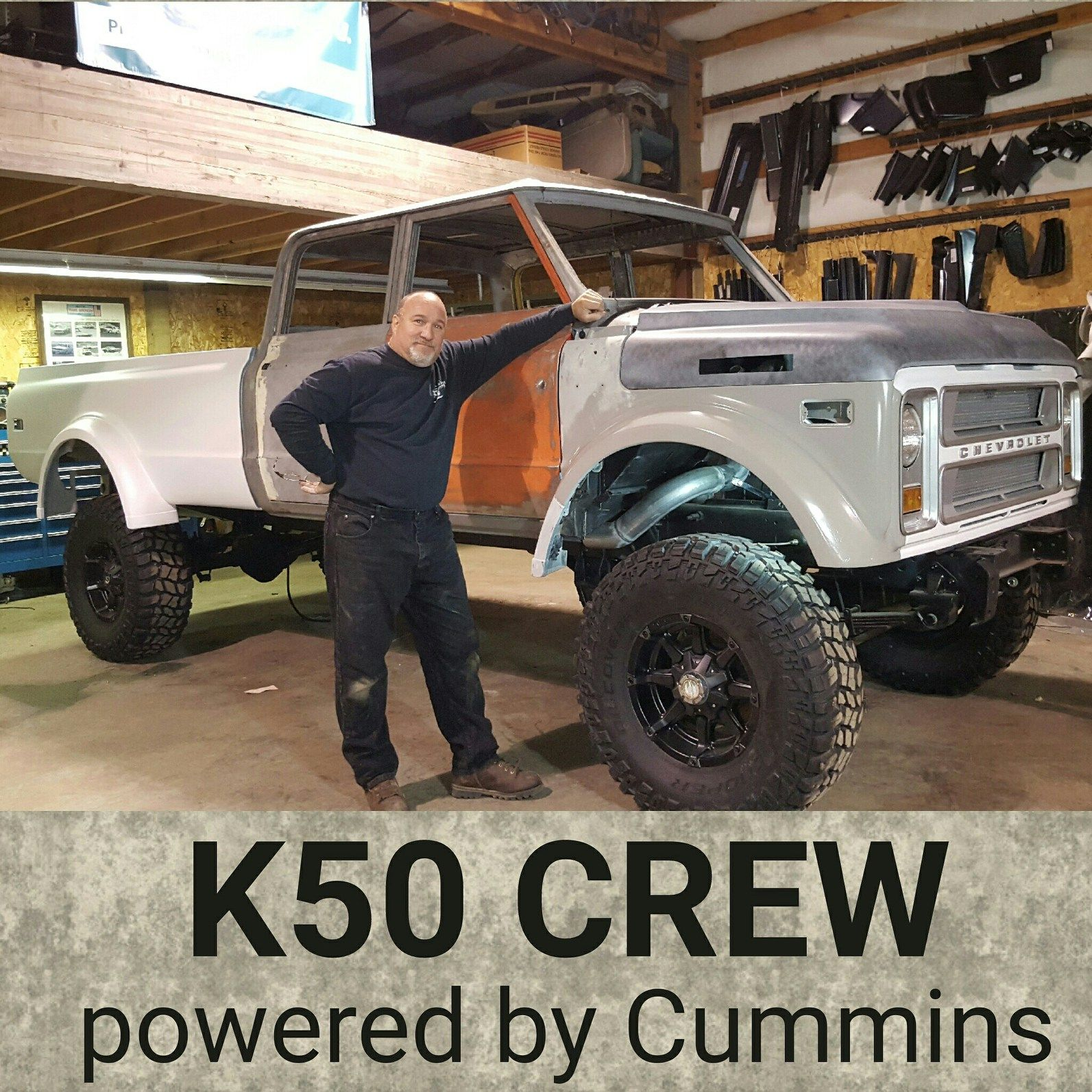 The Duke A 1970 custom K50 Crew Cab built by Rtech Fabrications