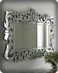 Rectangular Venetian wall mirror