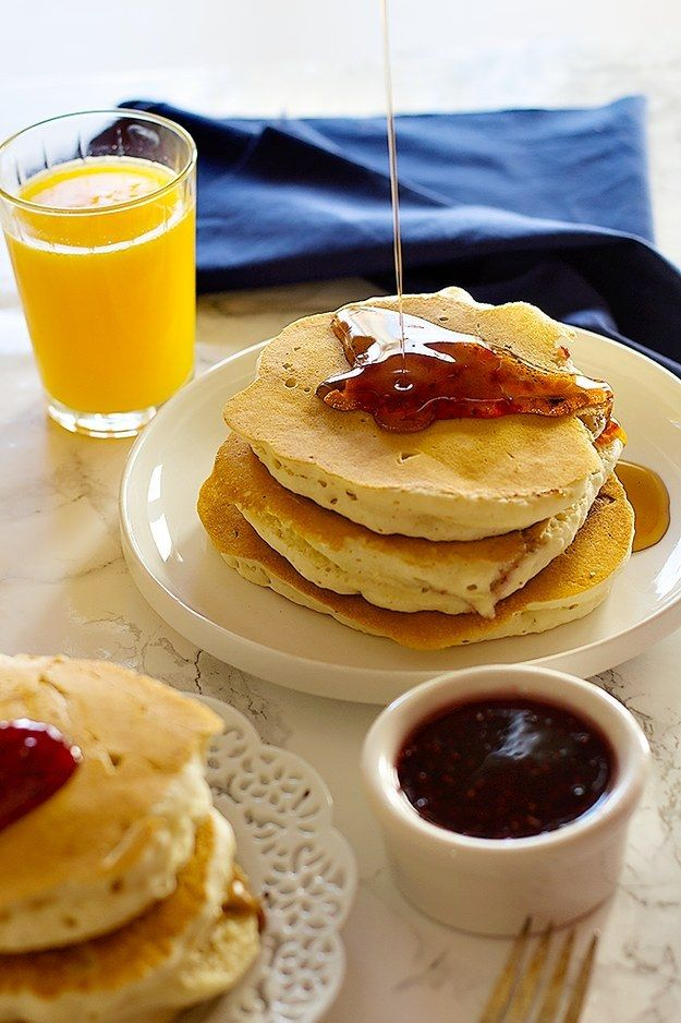 Peanut butter and jelly stuffed pancakes pancakes peanut butter peanut butter and jelly stuffed pancakes community post 15 mind blowing breakfasts guaranteed ccuart Choice Image