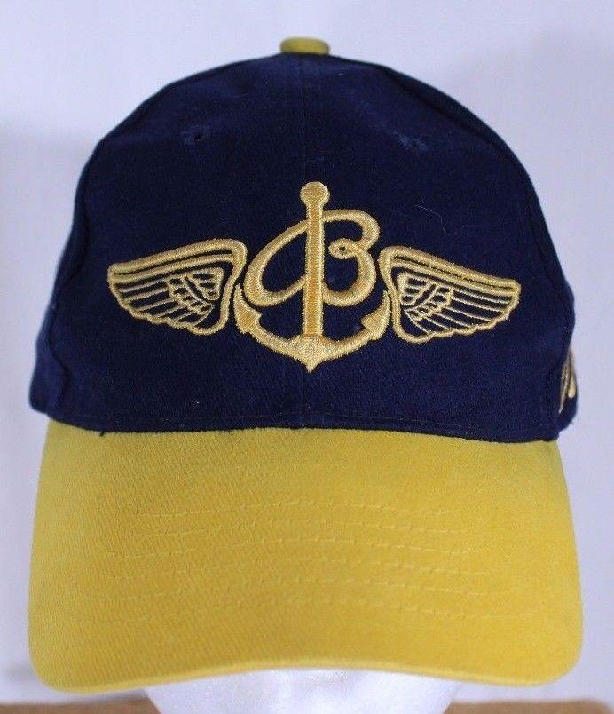 Breitling Ball Cap Trucker Hat Blue Gold Snapback Script Logo Breitling With Images Ball Cap Cap Trucker Hat