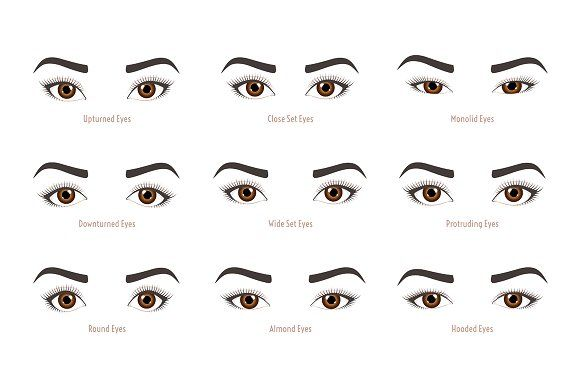 Types Of Woman Eyes Eye Shapes Types Of Eye Shapes Eye Shapes Types Of Eyes