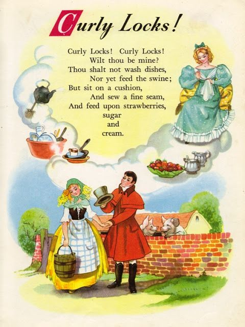 Gotta Love The Curly Locks Nursery Rhyme Land Ilrated By Hilda Boswell