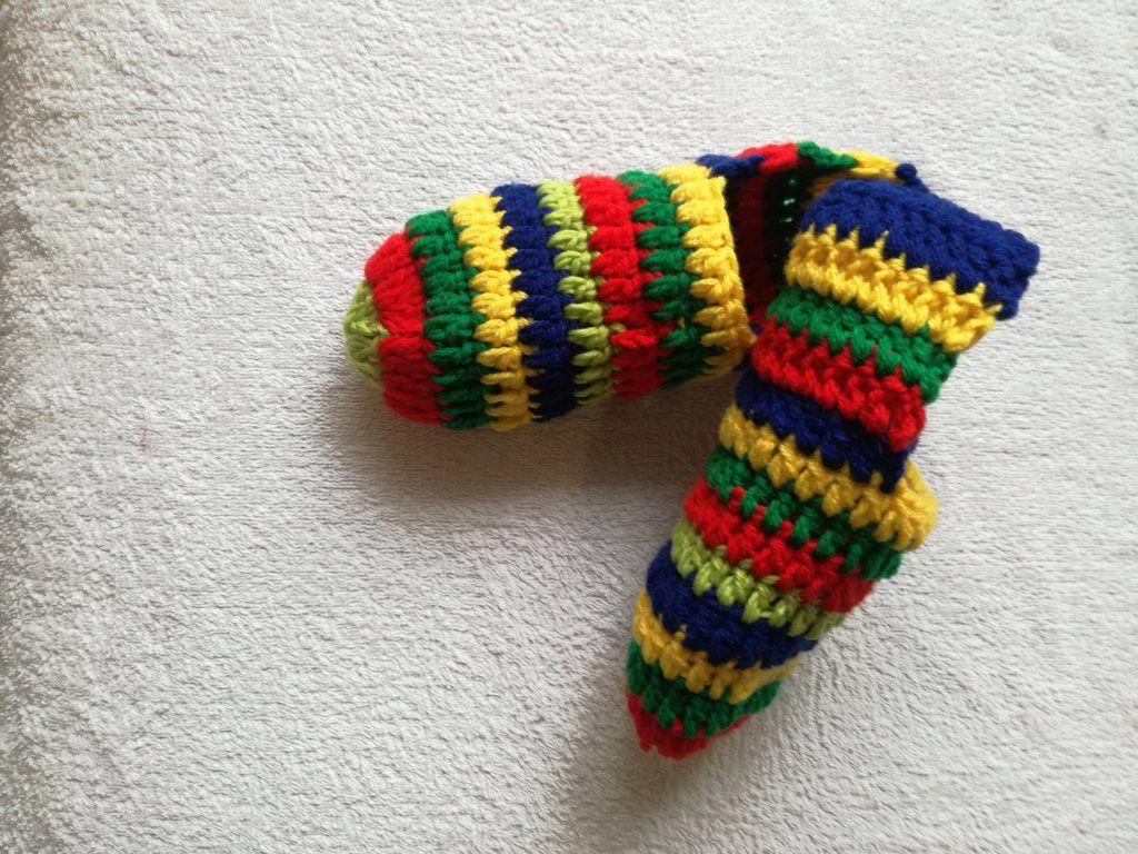 Pantofole Uomo Personalizzate Di Lana Babbucce All Uncinetto