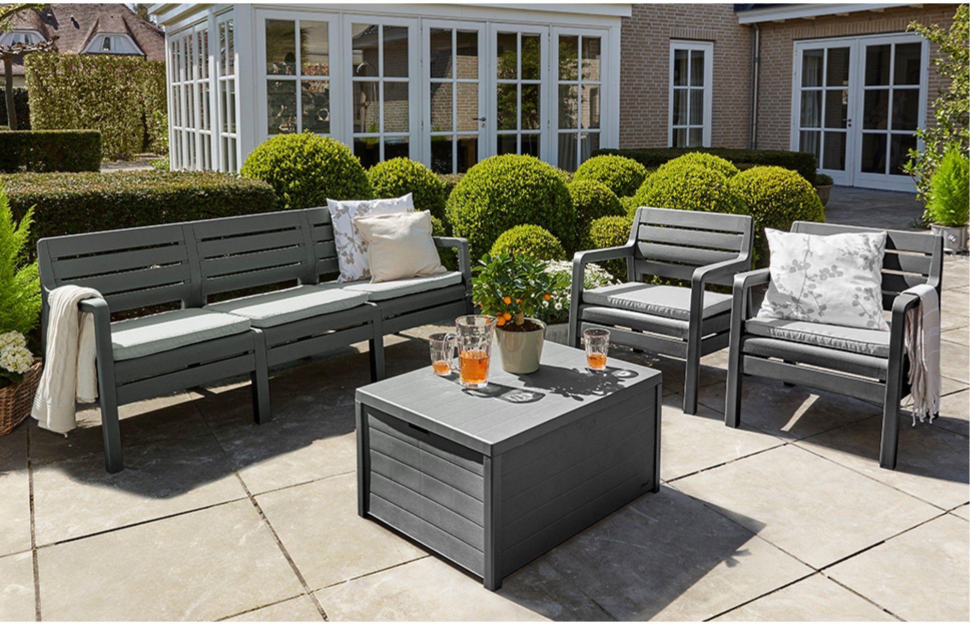 Awesome Delano Garden Furniture Set 5 Seats Dark Grey Roof Lamtechconsult Wood Chair Design Ideas Lamtechconsultcom