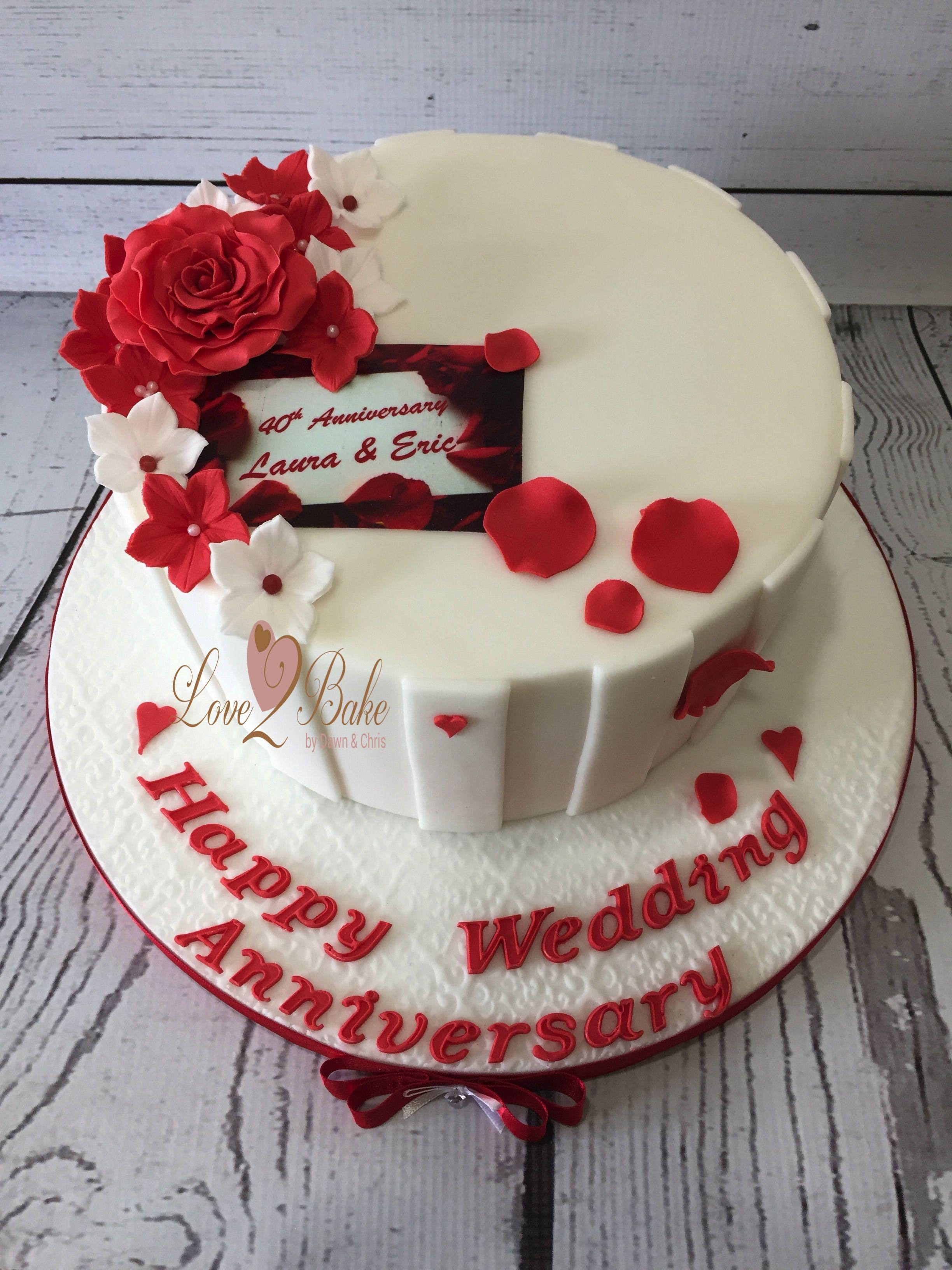 Ruby Anniversary Cake By Love2bake Sept 2017 Love2bake Cakes