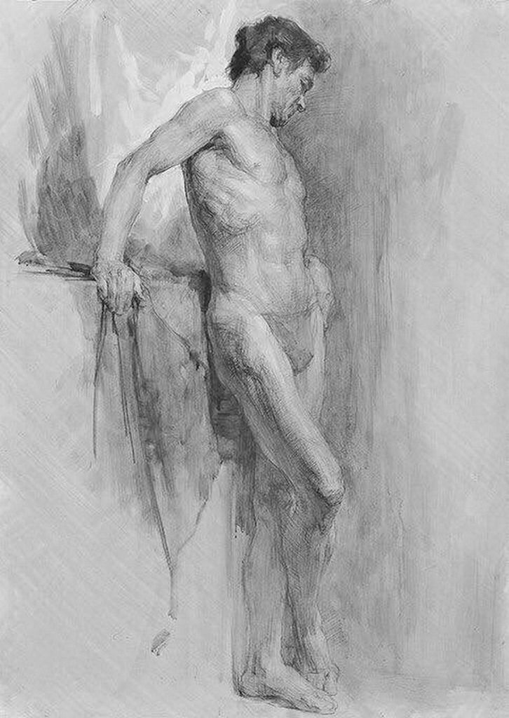 Pintura Y Fotografia Artistica Ejemplos Figura Humana A Lapiz Dibujos Artisticos Figure Drawing Guy Drawing Art