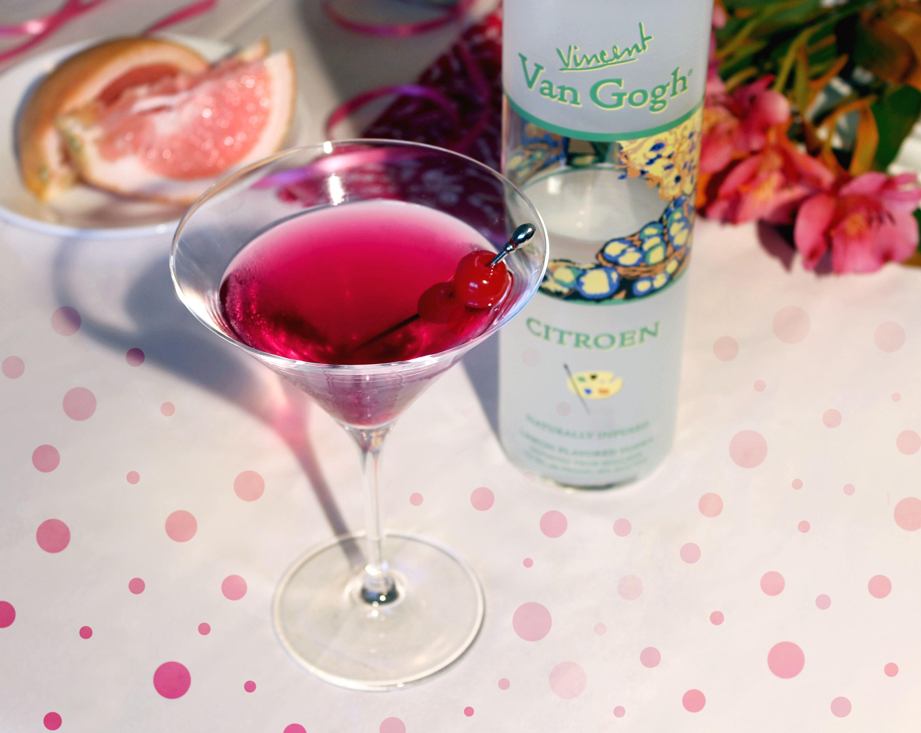 The Pink Lady 2 Oz Van Gogh Citroen Vodka 2 Oz Pomegranate Juice 1 Grapefruit Wedge In A Shaker Combine Vodka Pomegr Pomegranate Juice Wine Bottle Vodka