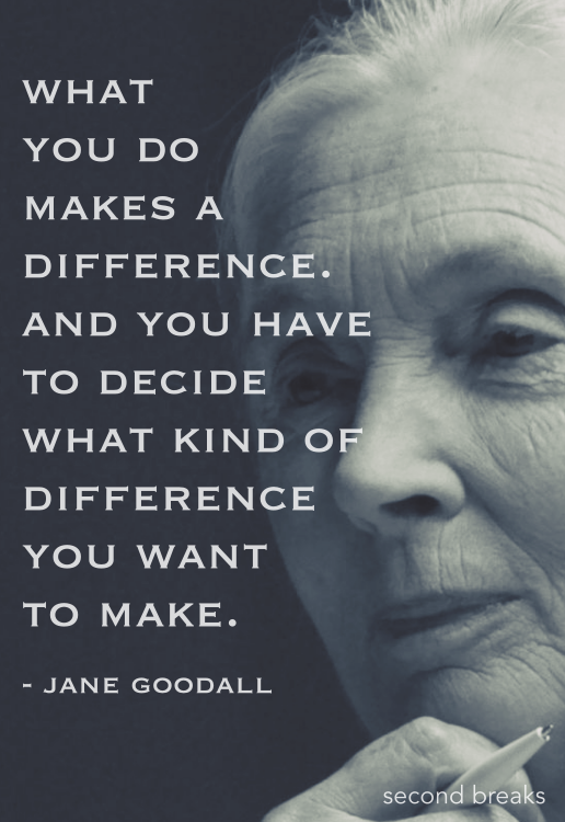 What you do makes a difference.