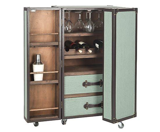 Armoire Bar Vert Et Marron H107 Gabinetes De Bar Mueble Bar Muebles Con Material Reciclado