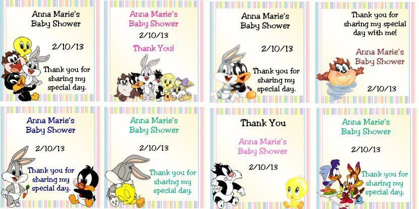 bunny sparse white baby showers shower gifts and looney tunes