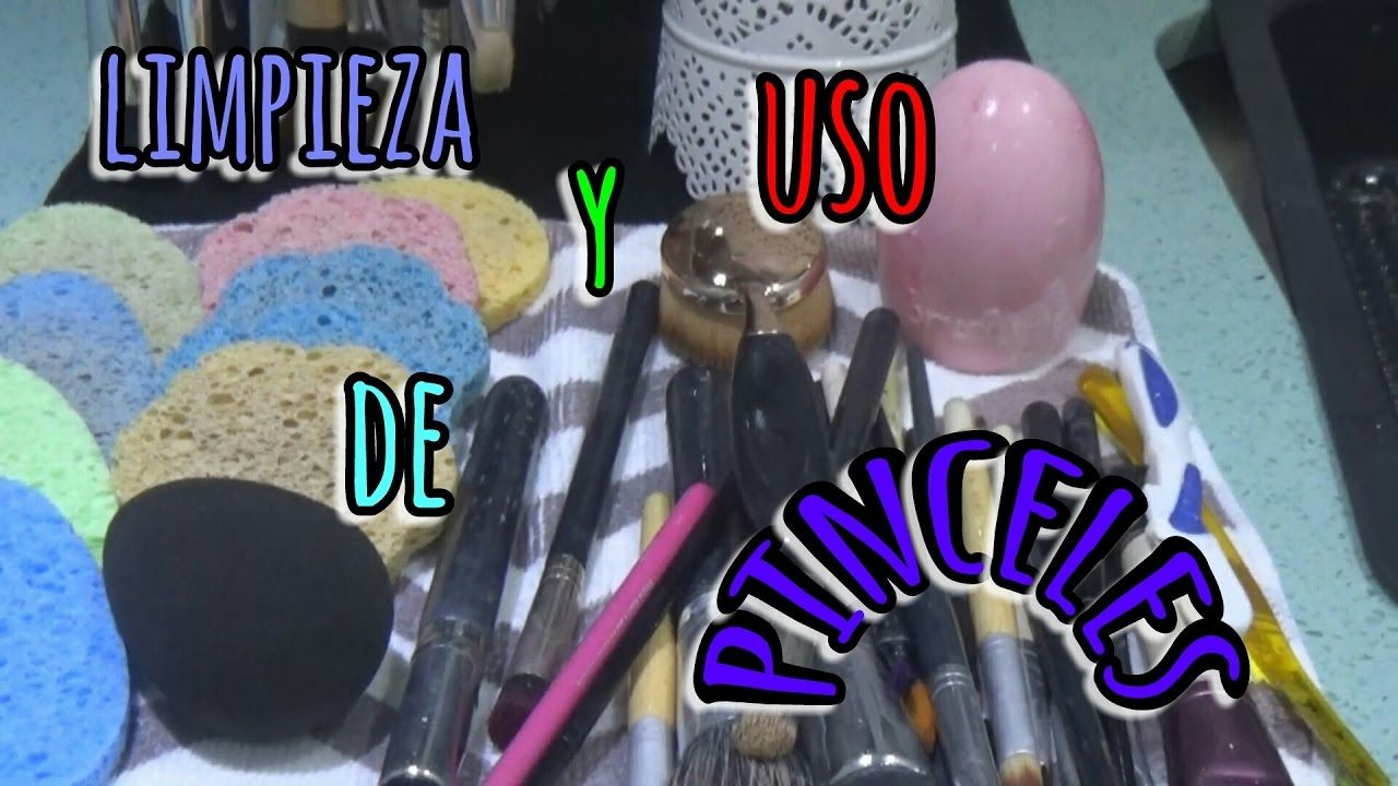 Como limpio  y utilizo mis pinceles de maquillaje | Cleaning make up bru...