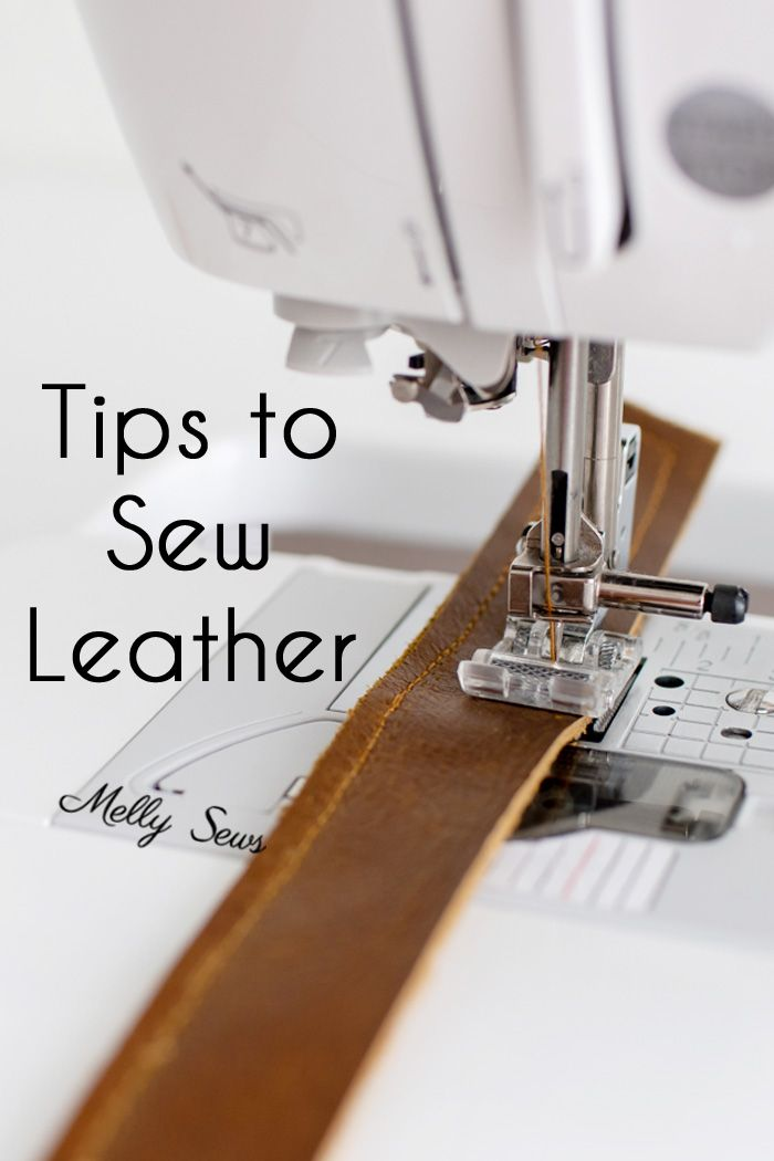 How to sew leather - tips and tricks for sewing leather successfully on a home sewing machine