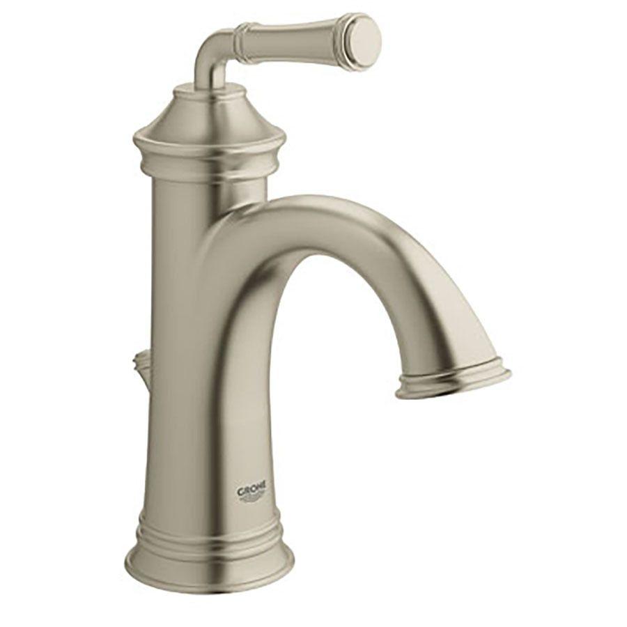 Grohe Gloucester Brushed Nickel 1 Handle Single Hole 4 In Centerset Watersense Bathroom