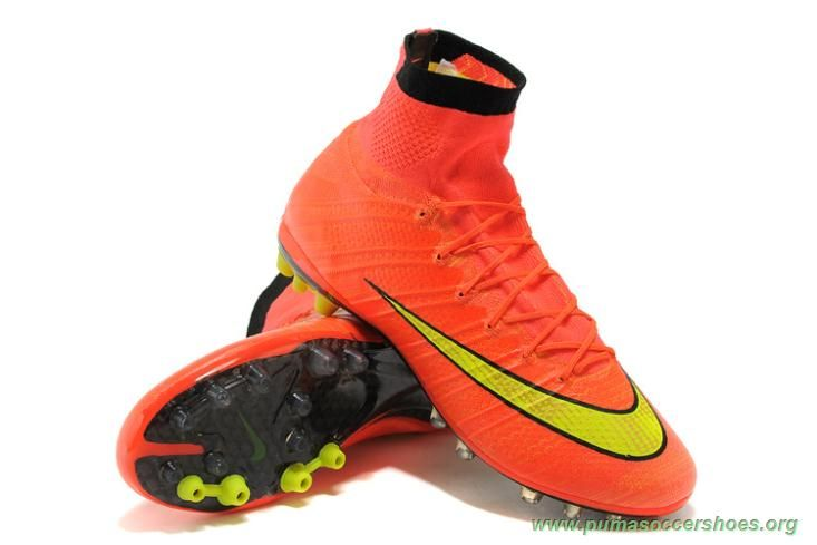 Mens ACC ORANGE/VOLT Nike Mercurial Superfly X AG Soccer Cleats