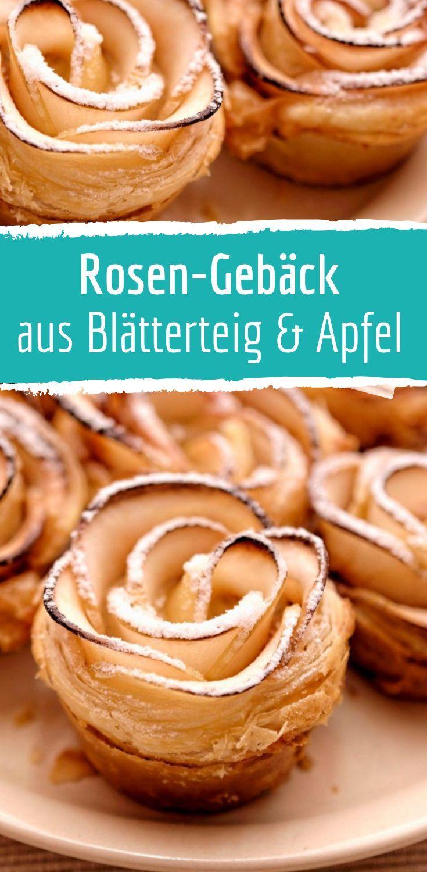 Rosen aus Blätterteig und Apfel #blätterteigrosenmitapfel