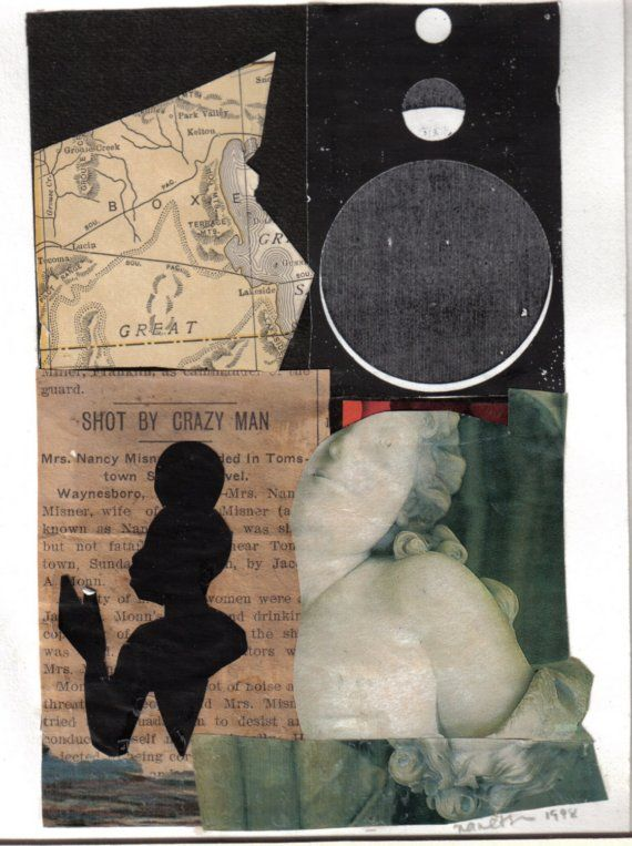 Shot By Crazy Man....Little Collage by GlamGillStudios on Etsy, $22.00