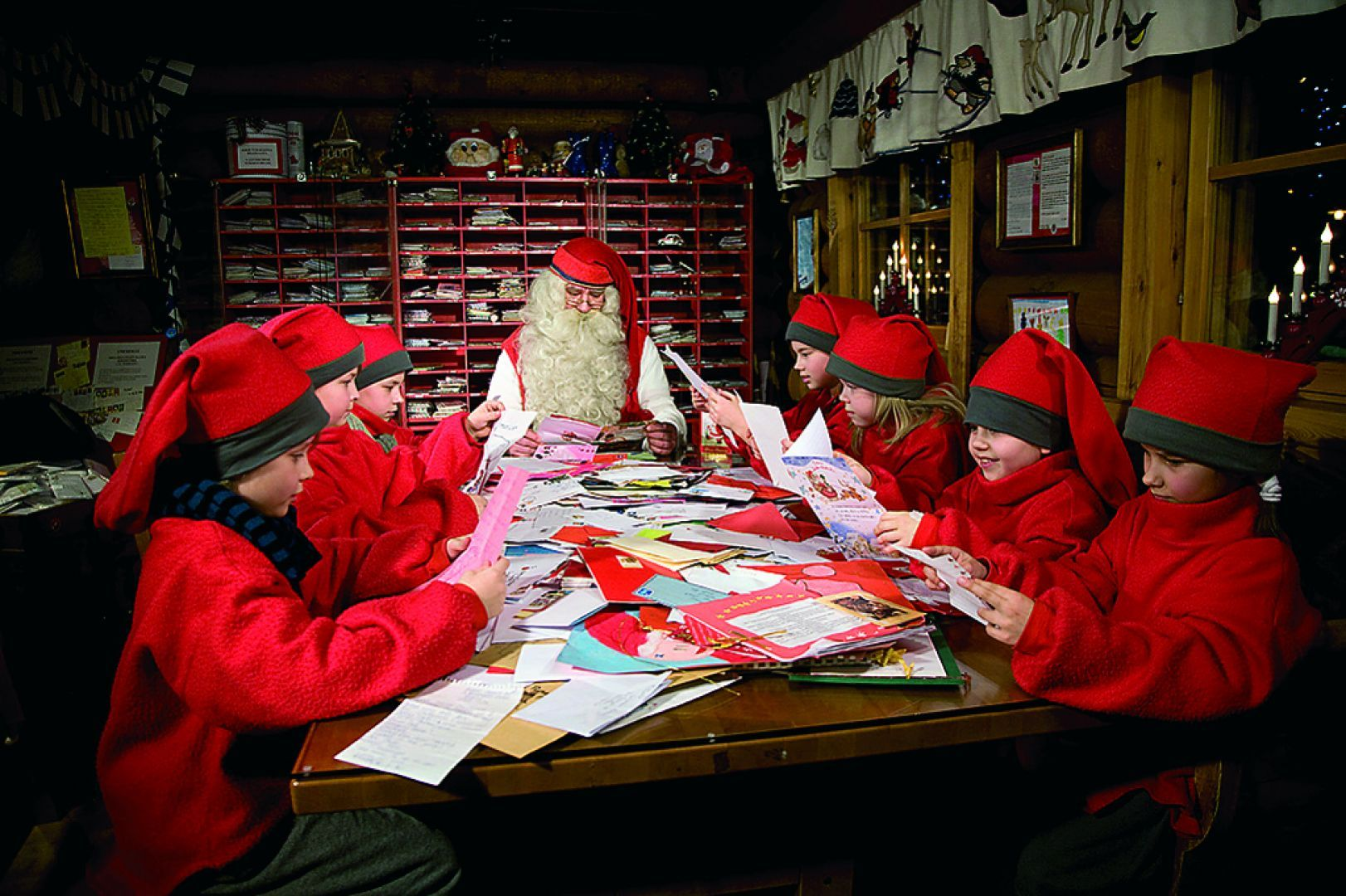 Lapland elves Santa claus house, Office christmas
