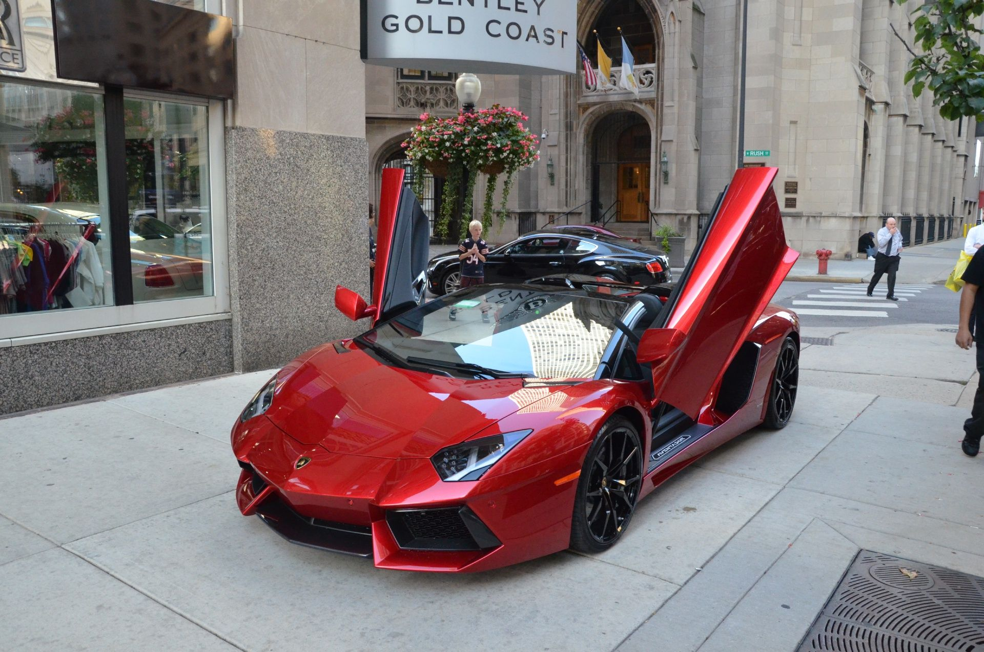 jasmines 2015 lamborghini aventador given to her by ironman himself and of course it had to be red