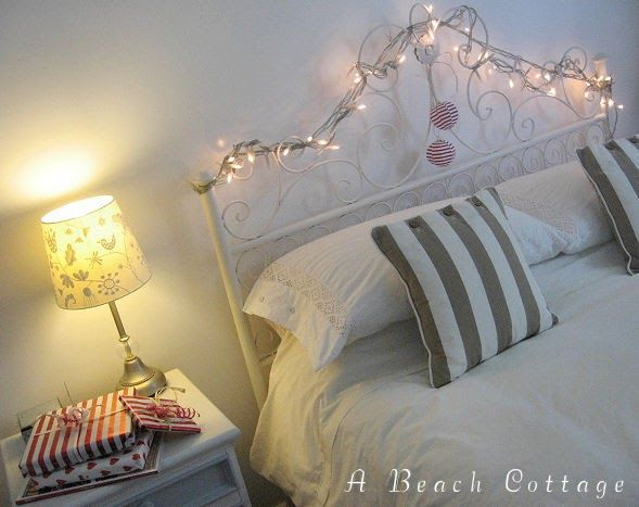 Fairy Lights Strung Through Bedhead Fairy Lights Bedroom Fairy