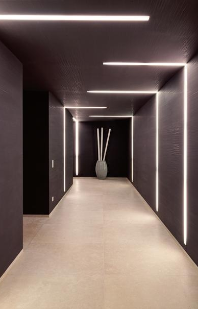 Lighting design inside the private house chameleon in mallorca also rh pinterest
