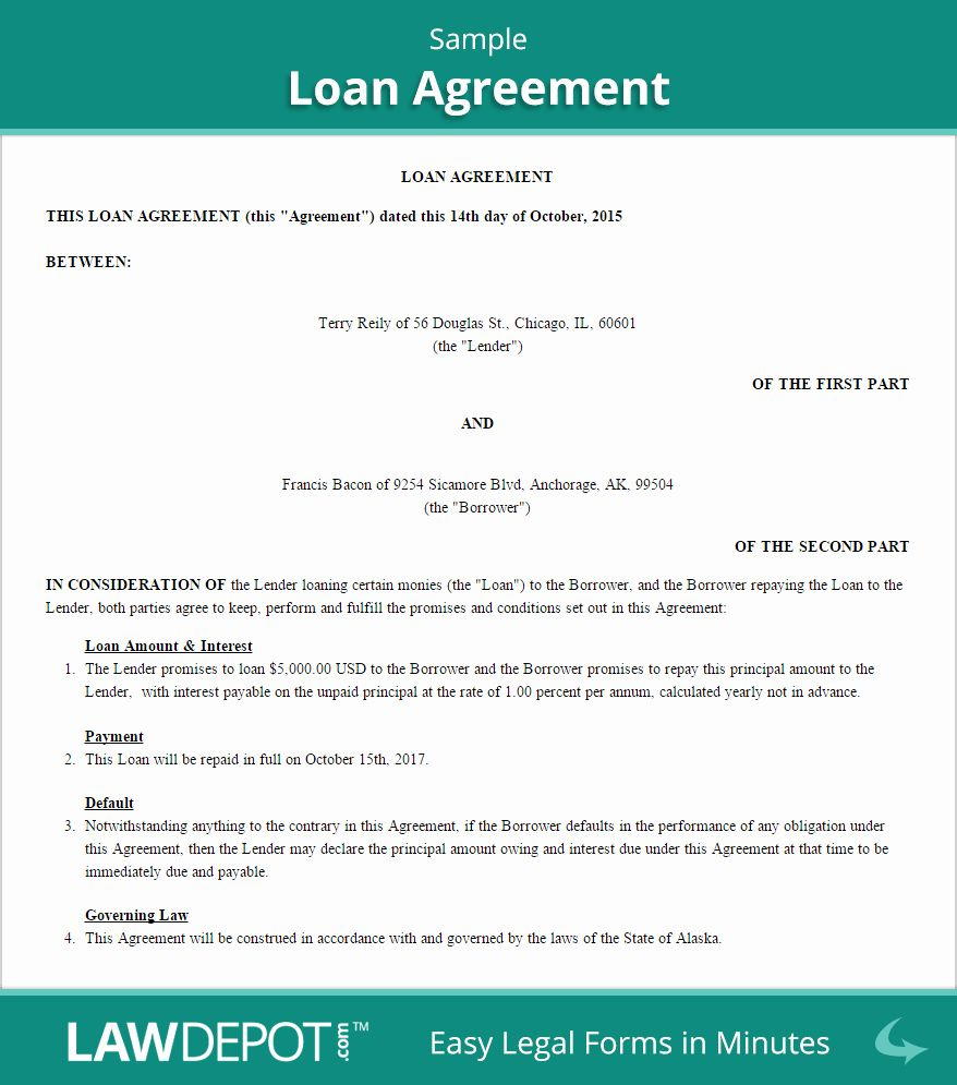 Free Personal Loan Contract Template Awesome Loan Agreement Template Us Free Loan Contract In 2020 Separation Agreement Template Contract Template Purchase Agreement