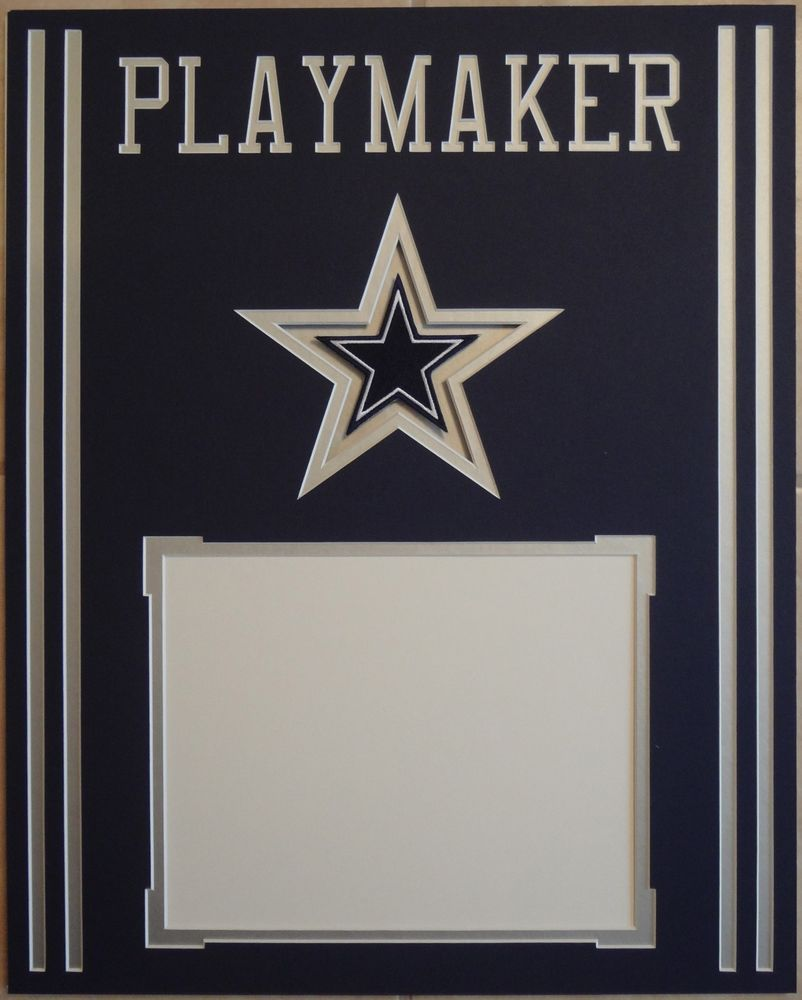 Dallas Cowboys Custom Requested 16x20 Mat For 8x10 Photo Playmaker