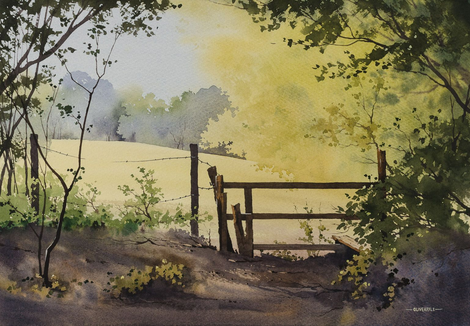 Oliver Pyle Fine Art Landscape Artist Watercolour Painter