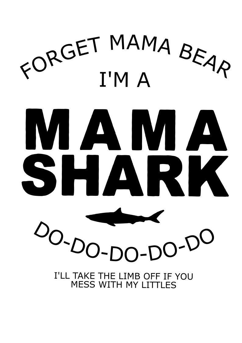 mama shark svg file quote cut file silhouette file cricut etsy rh pinterest com