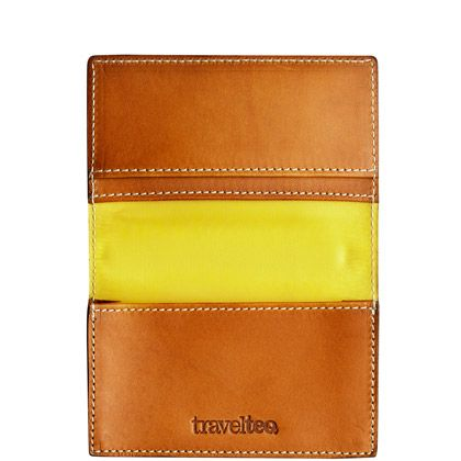 travelteq wallet with yellow via @Joy Cho