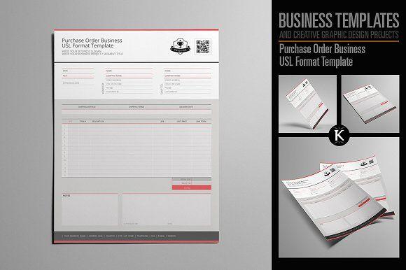 Purchase Order Business USL Format by Keboto on @creativemarket
