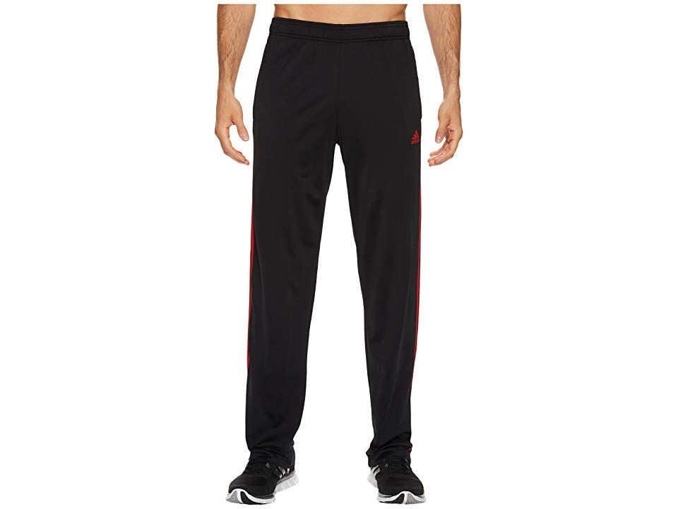 adidas Essentials 3Stripes Regular Fit Tricot Pants BlackScarlet Mens Casual Pants Keep it casual in this adidas Tricot Pants Regular fit is eased but not sloppy and perf...