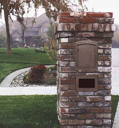 QUALARC MANCHESTER COLUMN MOUNT MAILBOX Designed For Masonry Brick  Pilaster And Column Installations Column Mount Mailbox R72
