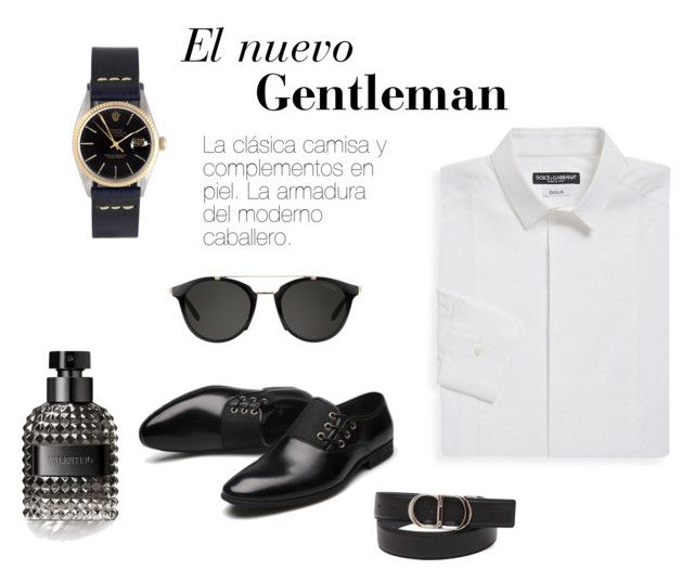 Gentleman by jennifermarchal on Polyvore featuring Dolce&Gabbana, Rolex, Carrera, Christian Dior, Valentino, men's fashion and menswear